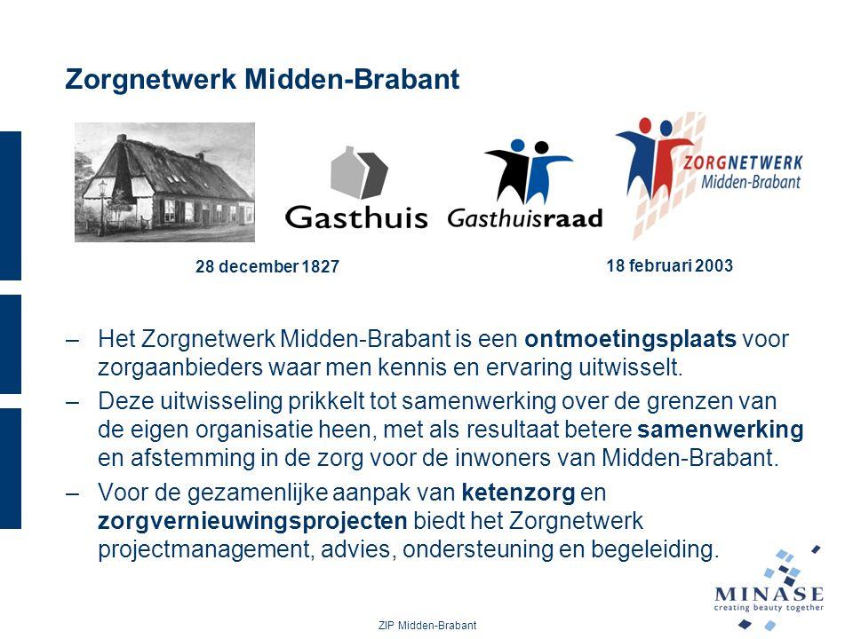 Zorgnetwerk Midden-Brabant –Het Zorgnetwerk Midden-Brabant is een ontmoetingsplaats voor zorgaanbieders waar men kennis en ervaring uitwisselt. –Deze