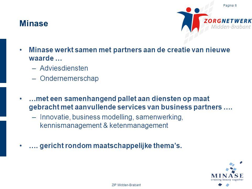 Minase Minase werkt samen met partners aan de creatie van nieuwe waarde … –Adviesdiensten –Ondernemerschap …met een samenhangend pallet aan diensten o