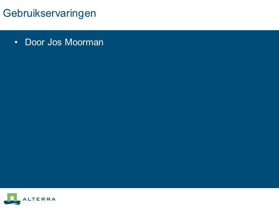 Gebruikservaringen Door Jos Moorman