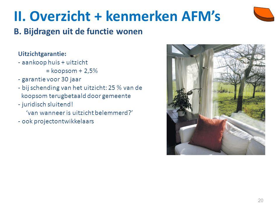 20 II. Overzicht + kenmerken AFM's B.