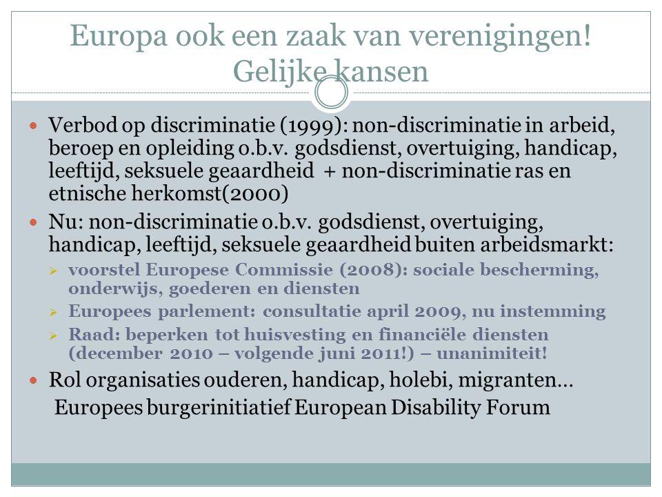 Europa ook een zaak van verenigingen.