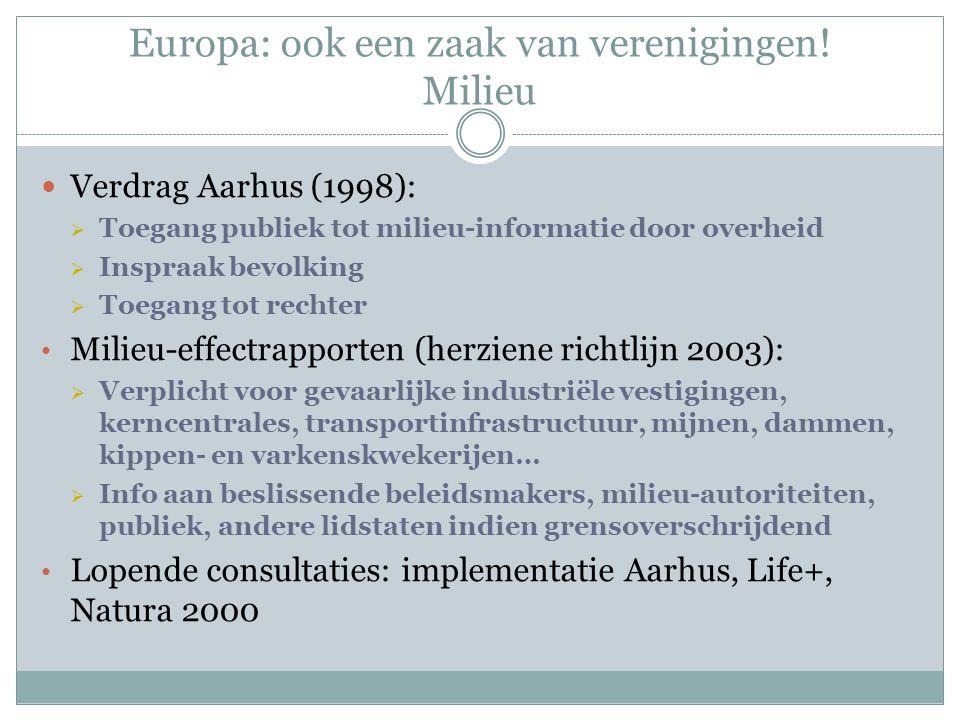 Europa: ook een zaak van verenigingen.