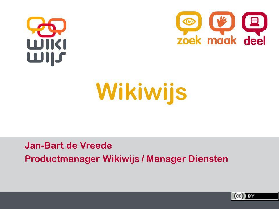 17-7-20141 1 Wikiwijs Jan-Bart de Vreede Productmanager Wikiwijs / Manager Diensten