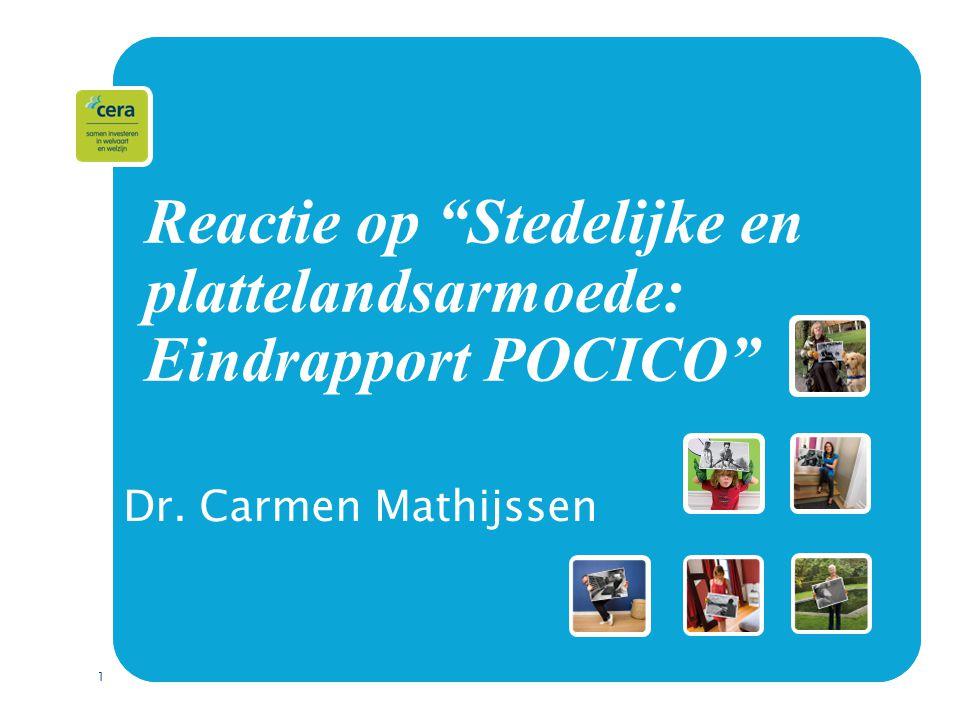 1 Reactie op Stedelijke en plattelandsarmoede: Eindrapport POCICO Dr. Carmen Mathijssen