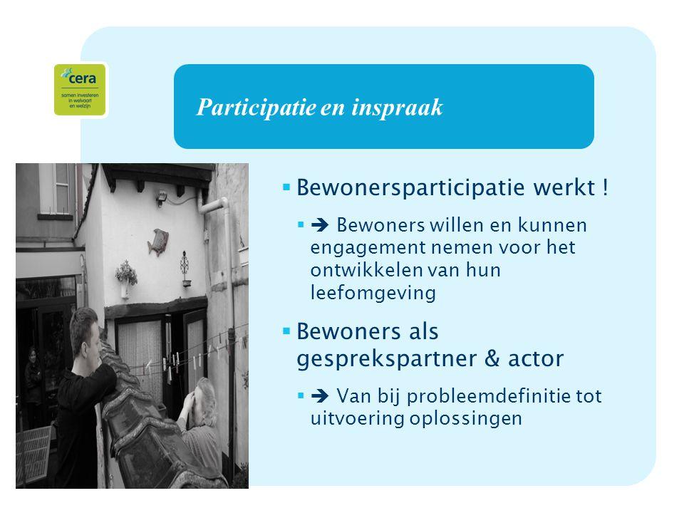 13 Participatie en inspraak  Bewonersparticipatie werkt .