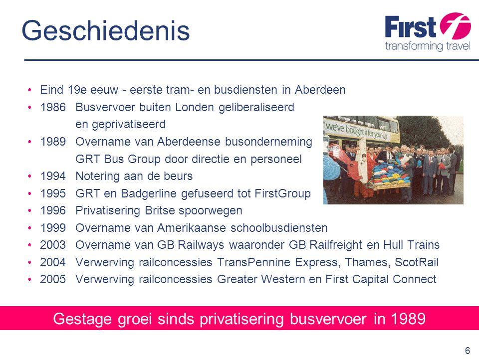 7 Overzicht activiteiten FirstGroup