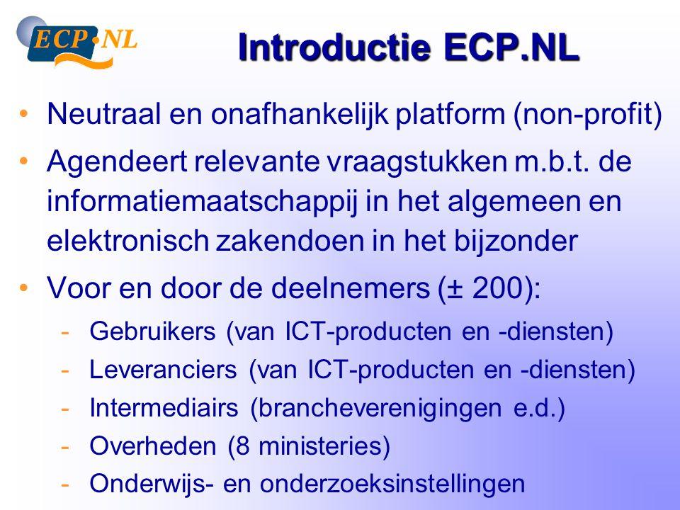 3 obstakels E-business Kritische massa InteroperabiliteitVertrouwen !