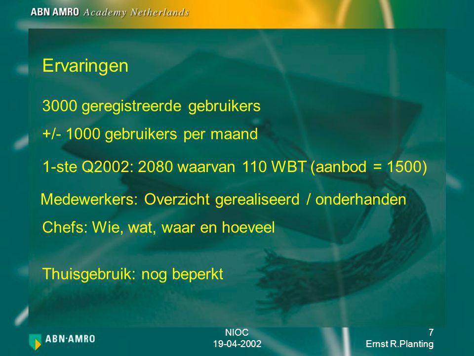 NIOC 19-04-2002 8 Ernst R.Planting Vragen / Opmerkingen