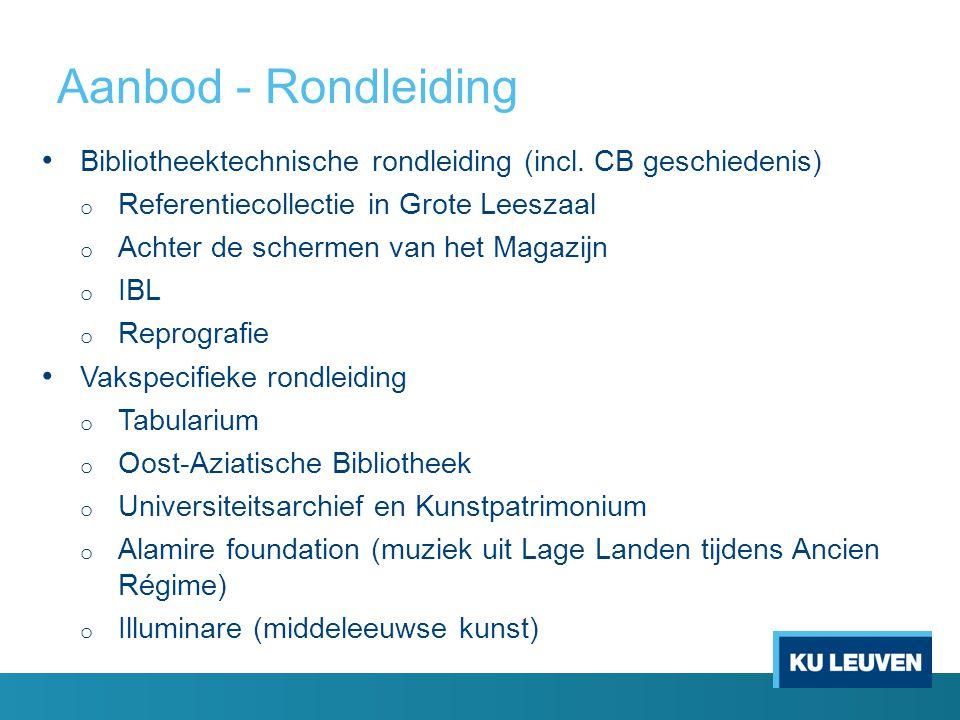 Aanbod - Rondleiding Bibliotheektechnische rondleiding (incl.