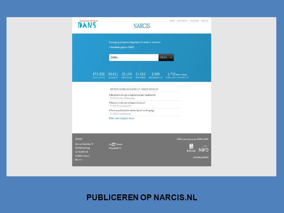 PUBLICEREN OP NARCIS.NL