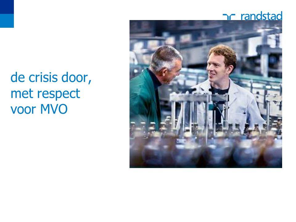 de crisis door, met respect voor MVO