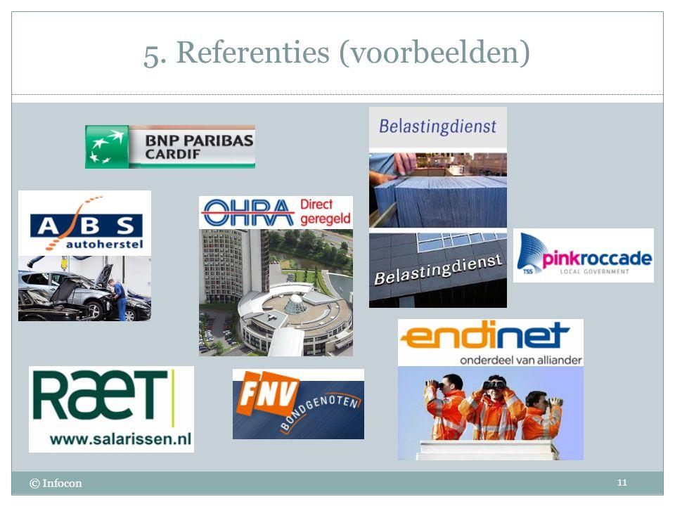 5. Referenties (voorbeelden) 11 © Infocon