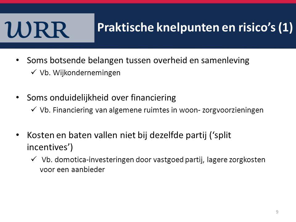Risico's t.a.v.continuïteit: financieel, te afhankelijk van 1 persoon, geen goede governance …etc.
