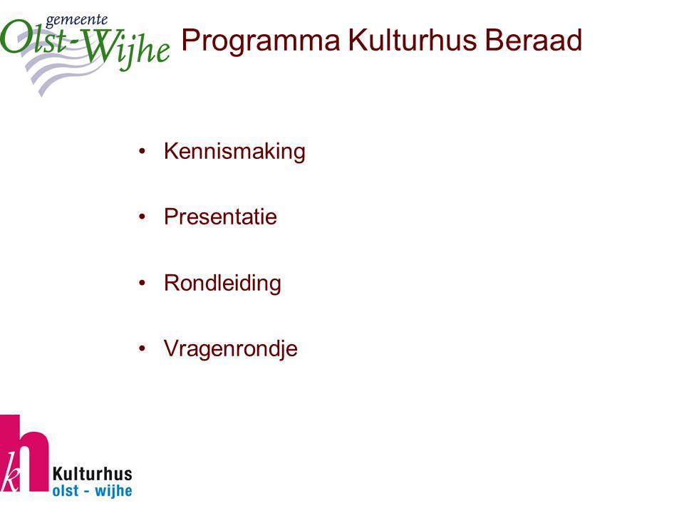 Inleiding Hoe ging het in Olst-Wijhe? Wat is het Kulturhusconcept Olst-Wijhe?