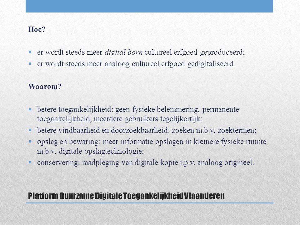 Platform Duurzame Digitale Toegankelijkheid Vlaanderen Hoe.