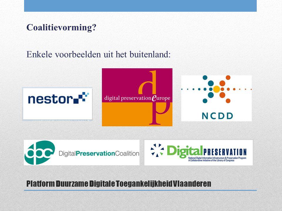Platform Duurzame Digitale Toegankelijkheid Vlaanderen Coalitievorming.