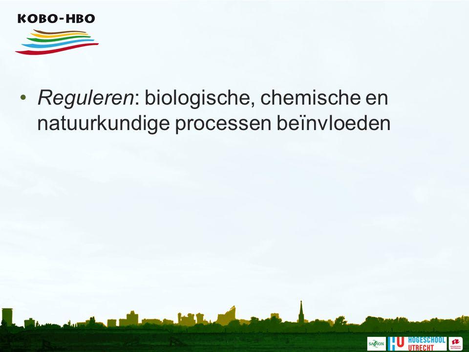 Reguleren: biologische, chemische en natuurkundige processen beïnvloeden