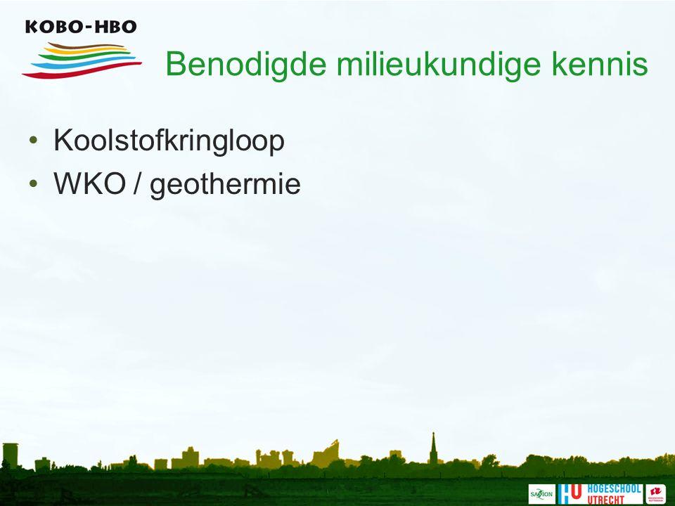 Benodigde milieukundige kennis Koolstofkringloop WKO / geothermie
