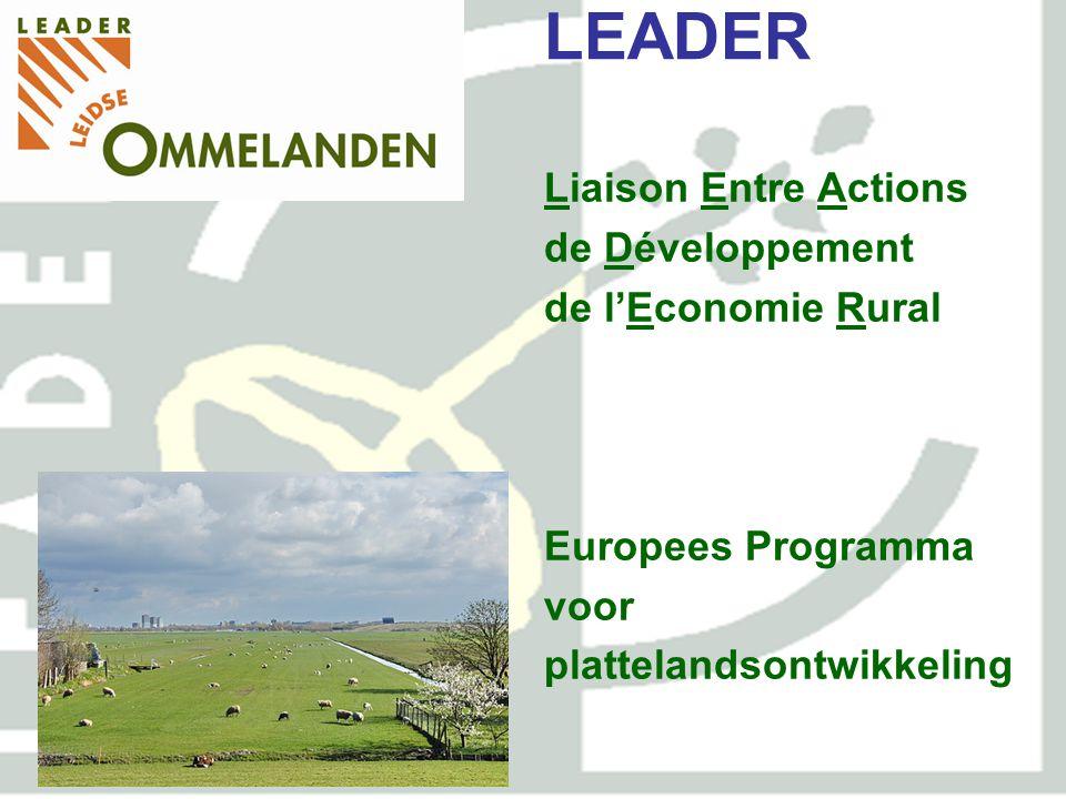 LEADER en POP Europees Fonds voor Plattelandsontwikkeling: Europa investeert in zijn Platteland