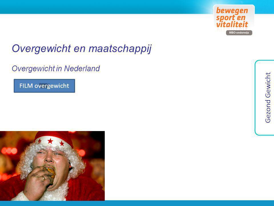 Overgewicht en maatschappij Overgewicht in Nederland Gezond Gewicht FILM overgewicht