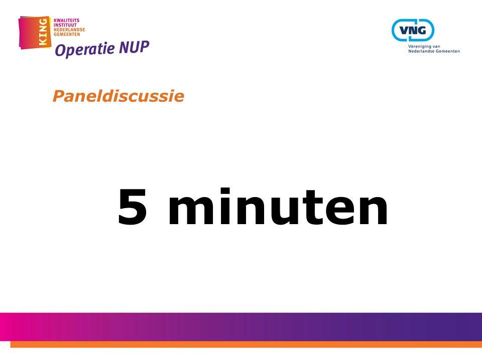 Paneldiscussie 5 minuten