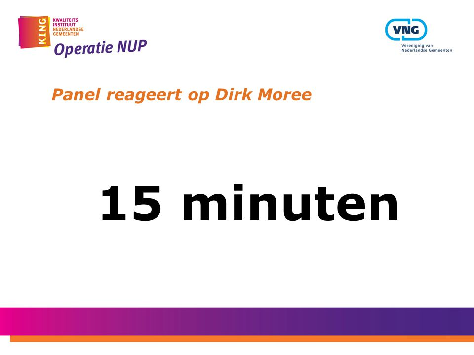 Panel reageert op Dirk Moree 15 minuten