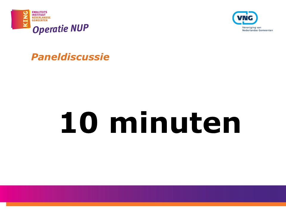 Paneldiscussie 10 minuten