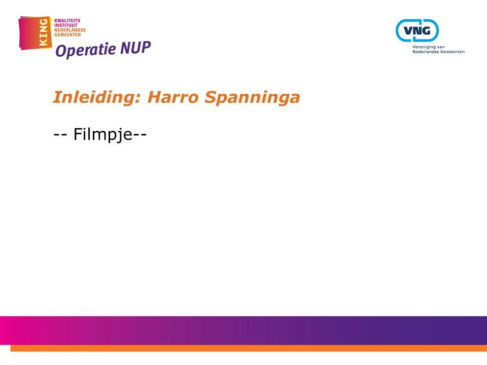 Inleiding: Harro Spanninga -- Filmpje--