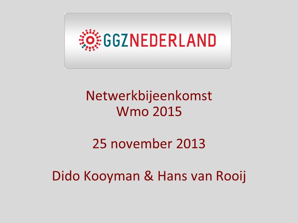 Netwerkbijeenkomst Wmo 2015 25 november 2013 Dido Kooyman & Hans van Rooij