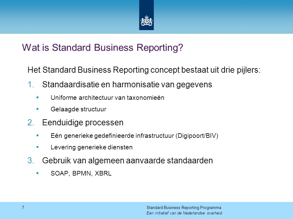 Wat is Standard Business Reporting.