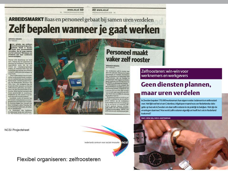 Brochure NCSI over individueel roosteren www.ncsi.nlwww.ncsi.nl 7 april 2009Sociale innovatie ESF-Actie E4