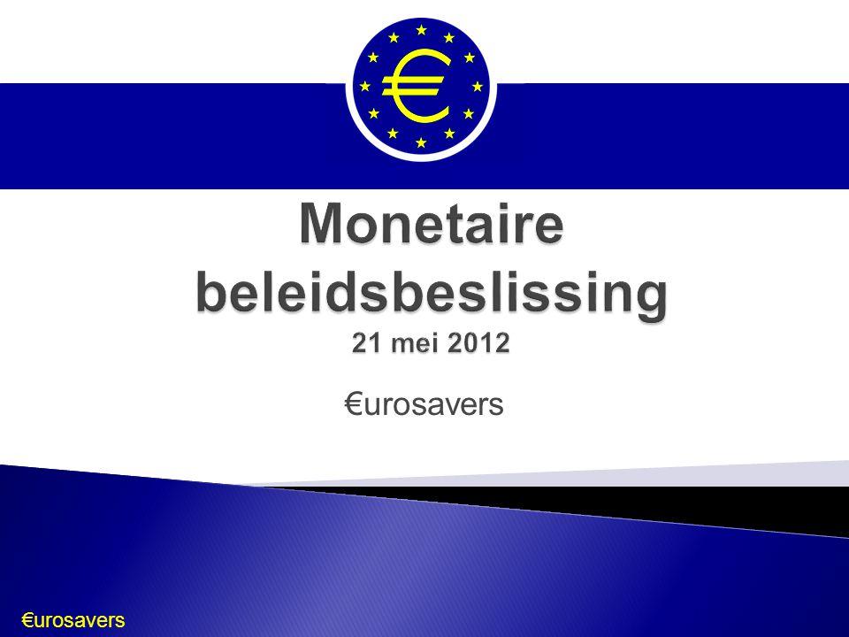 €urosavers Bron: EurostatEurostat  Trend:  Opvallende ongelijkheid: sterke landen – zwakke landen  België: te hoog; compensatie hoge productiviteit