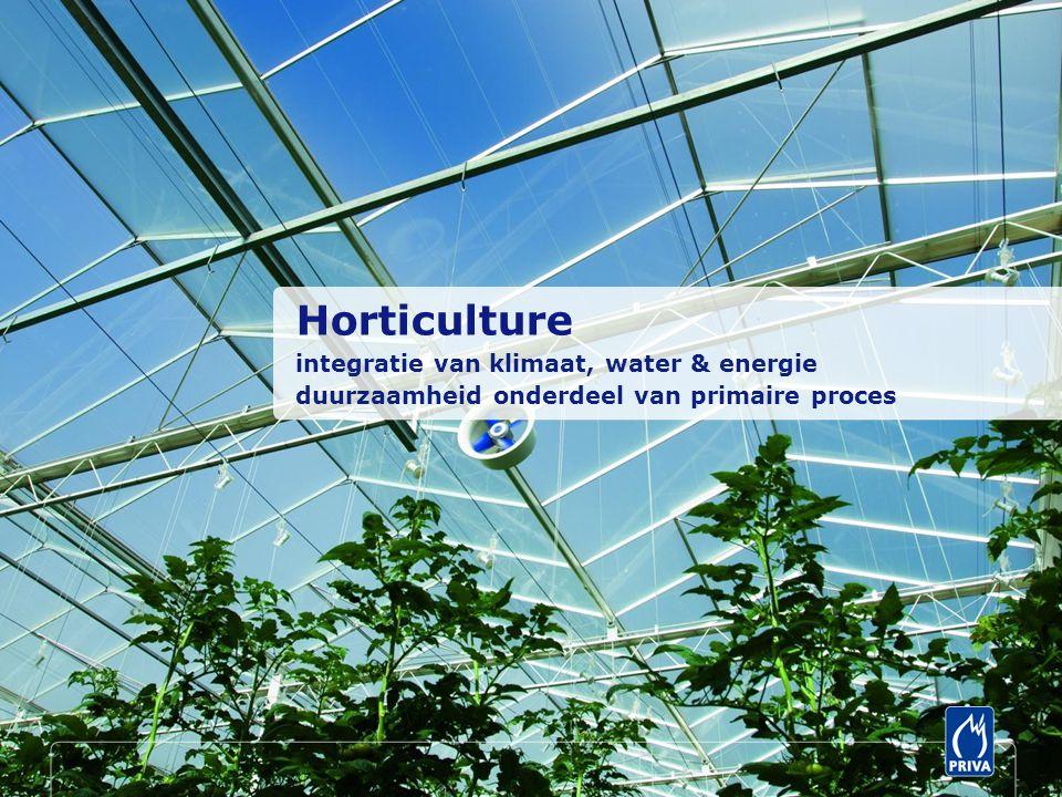Horticulture integratie van klimaat, water & energie duurzaamheid onderdeel van primaire proces