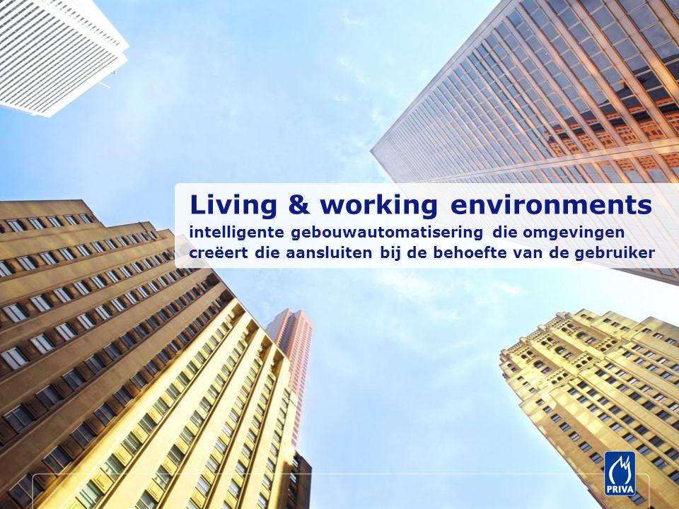 Living & working environments intelligente gebouwautomatisering die omgevingen creëert die aansluiten bij de behoefte van de gebruiker
