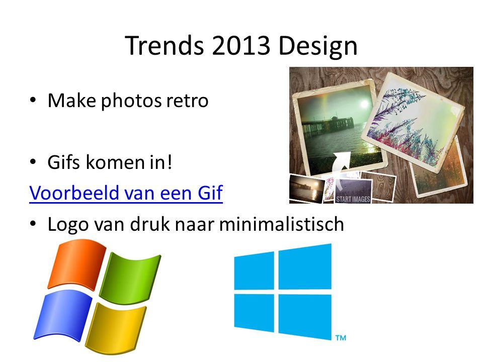 Trends 2013 Design Make photos retro Gifs komen in! Voorbeeld van een Gif Logo van druk naar minimalistisch