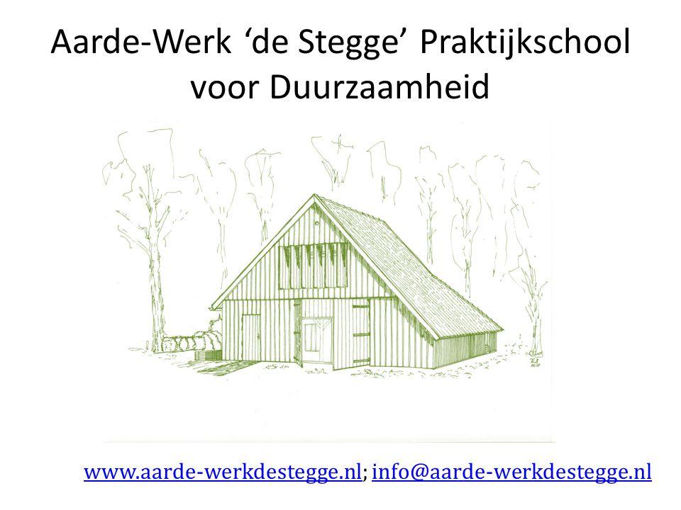 Aarde-Werk 'de Stegge' Praktijkschool voor Duurzaamheid www.aarde-werkdestegge.nlwww.aarde-werkdestegge.nl; info@aarde-werkdestegge.nlinfo@aarde-werkdestegge.nl