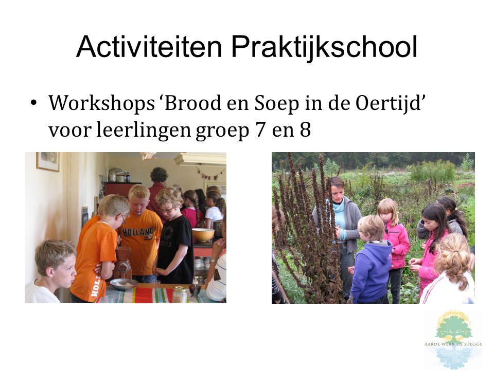Activiteiten Praktijkschool Workshops 'Brood en Soep in de Oertijd' voor leerlingen groep 7 en 8