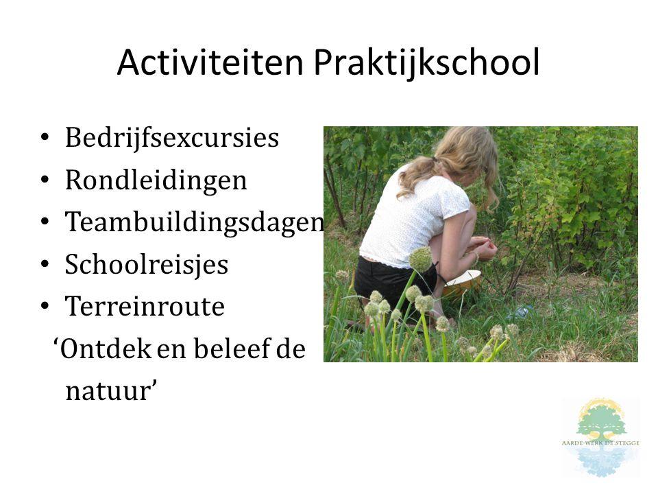 Activiteiten Praktijkschool Bedrijfsexcursies Rondleidingen Teambuildingsdagen Schoolreisjes Terreinroute 'Ontdek en beleef de natuur'
