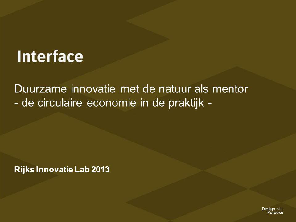 Duurzame innovatie met de natuur als mentor - de circulaire economie in de praktijk - Rijks Innovatie Lab 2013