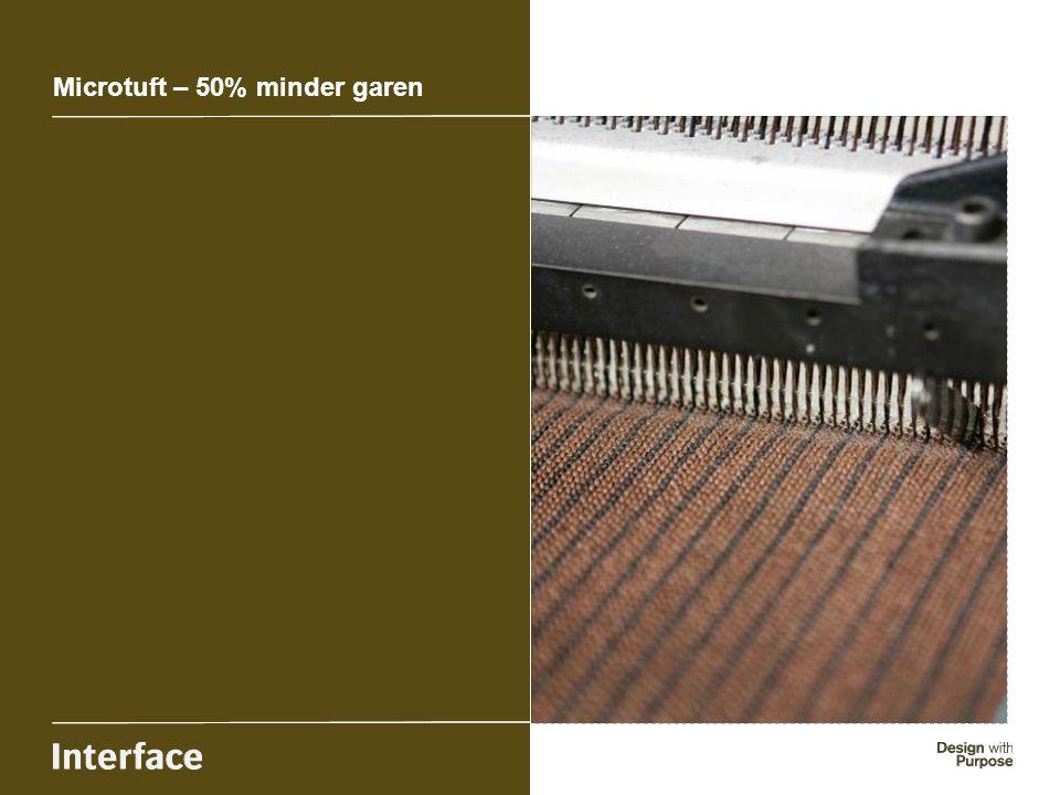Microtuft – 50% minder garen