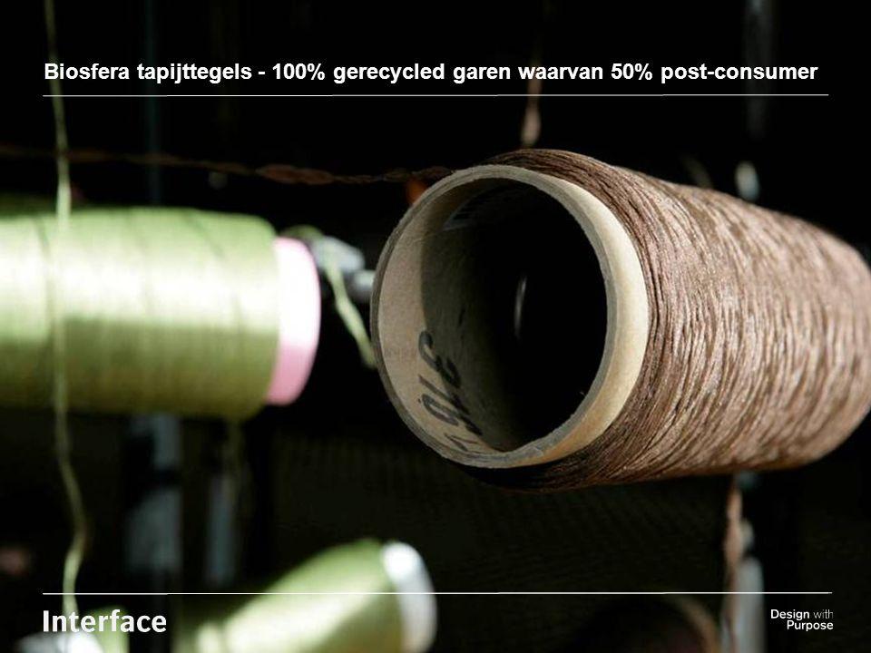 Insert background Image here Biosfera tapijttegels - 100% gerecycled garen waarvan 50% post-consumer