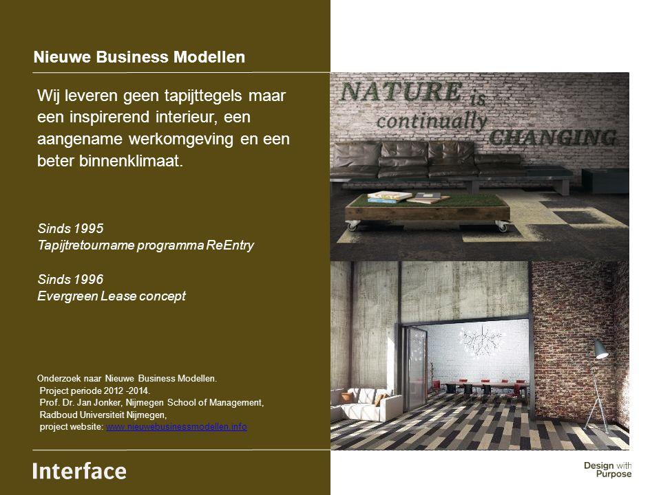 Nieuwe Business Modellen Wij leveren geen tapijttegels maar een inspirerend interieur, een aangename werkomgeving en een beter binnenklimaat. Sinds 19