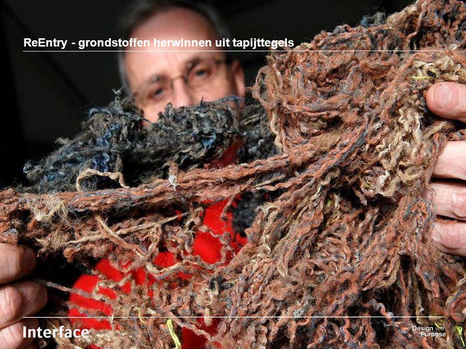 Insert background Image here ReEntry - grondstoffen herwinnen uit tapijttegels