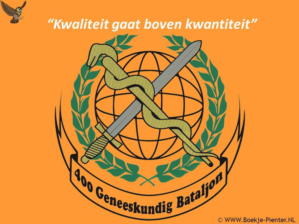 © WWW.Boekje-Pienter.NL Kwaliteit gaat boven kwantiteit