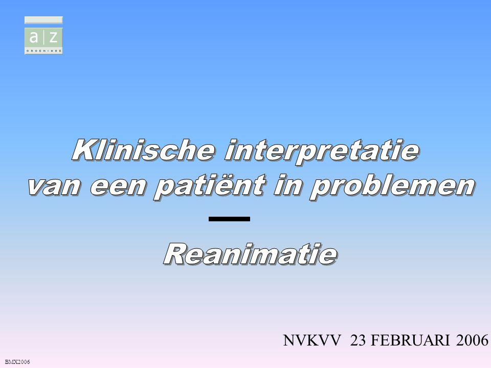 Nauwkeuriger onderzoek: in afwachting medische tussenkomst Zo pols en ademhaling: ondervraging van de patiënt en betrokkenen - wat is er gebeurd, ziekte,pijn,medicatie thuis…(anamnese) P: pols, pupillen,PO² A: ademhaling (frequentie, type, geur) R: reaktie (GCS) - RR K: kleur I: inspectie mond - kledij E: eventueel braken (wijze,wat,geur,kleur) T: toestand (letsels) – Temperatuur (koorts-onderkoeld) Wat bij minder kritische situaties BMX2006