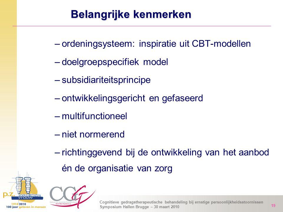 Cognitieve gedragstherapeutische behandeling bij ernstige persoonlijkheidsstoornissen Symposium Hallen Brugge – 30 maart 2010 19 –ordeningsysteem: ins