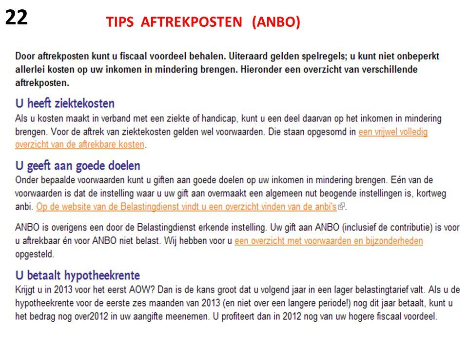 TIPS AFTREKPOSTEN (ANBO) 22