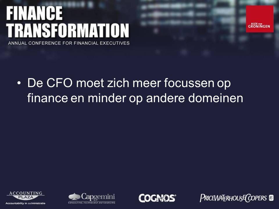 De CFO moet zich meer focussen op finance en minder op andere domeinen