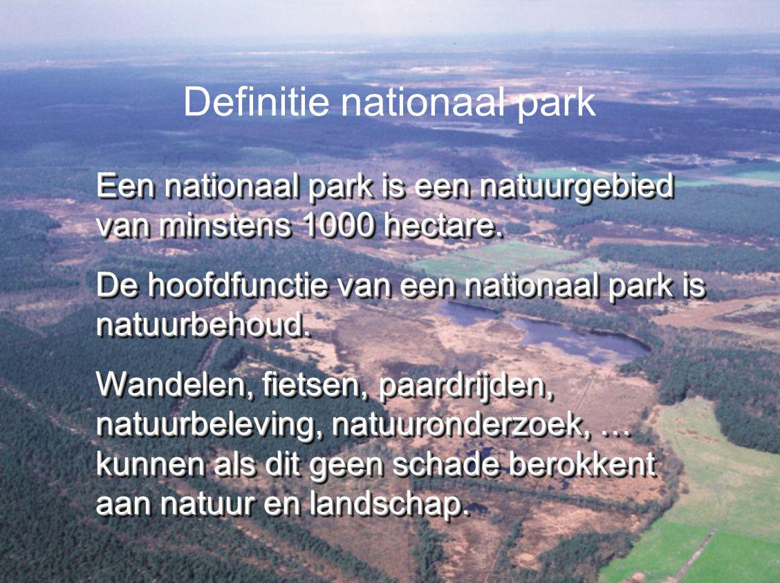 De totale oppervlakte van het toekomstige Nationale Park Hoge Kempen is 5746 hectare.