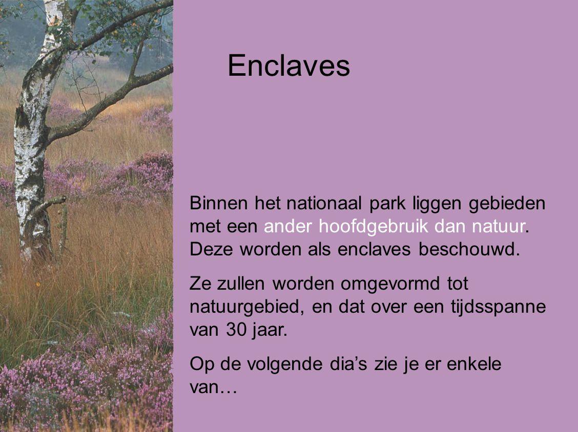 Binnen het nationaal park liggen gebieden met een ander hoofdgebruik dan natuur.